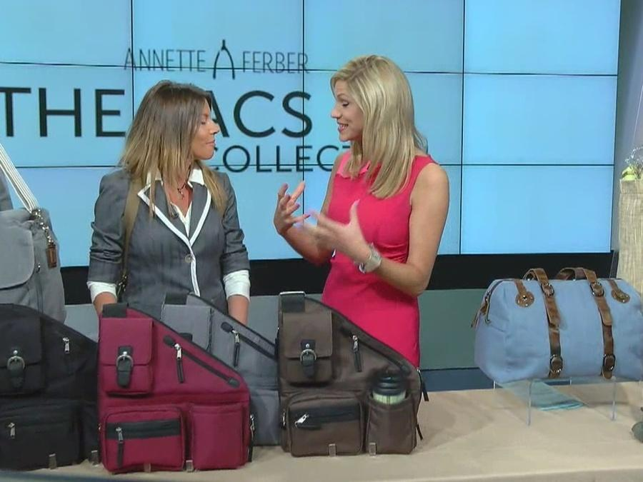 Functional and fashionable bags make this Mom a genius