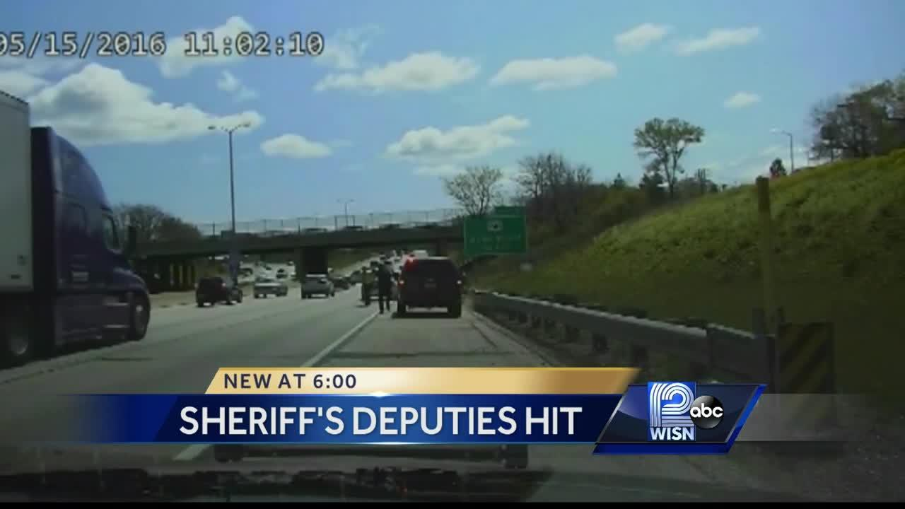 Dash cam video shows two Milwaukee deputies being dragged in traffic