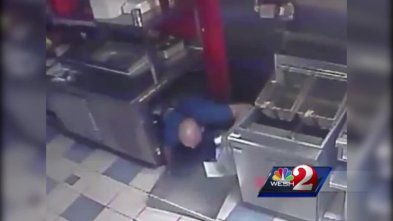 Thief falls through ceiling in Orlando