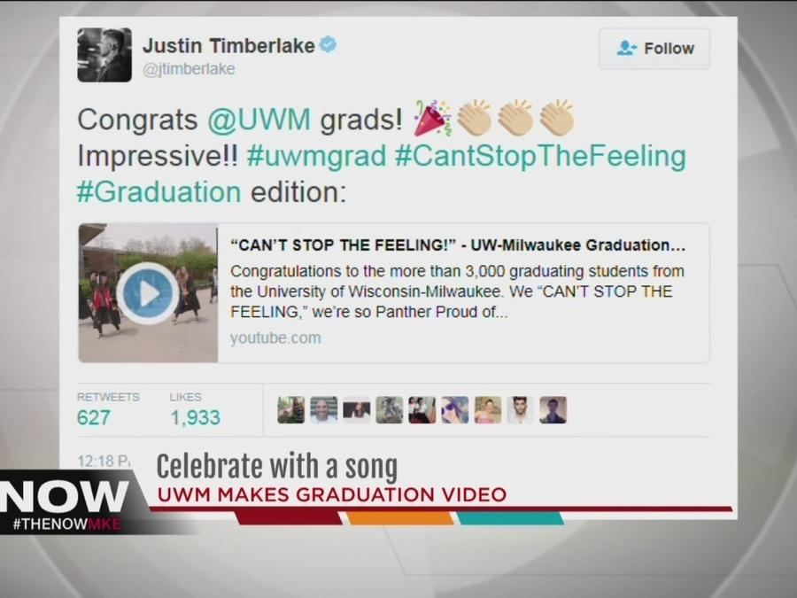Justin Timberlake tweets about UWM grads tribute video