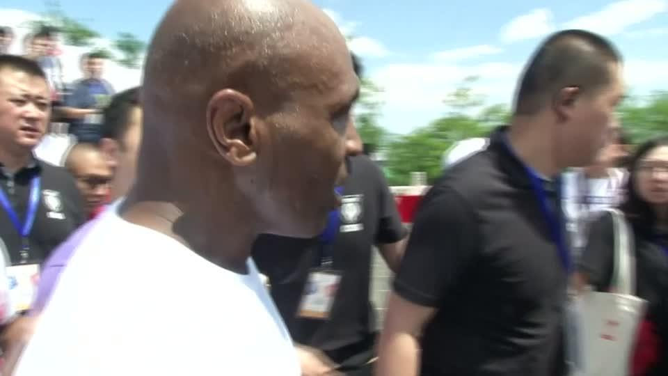 Tyson shares his view on headgear in boxing after Great Wall of China walk