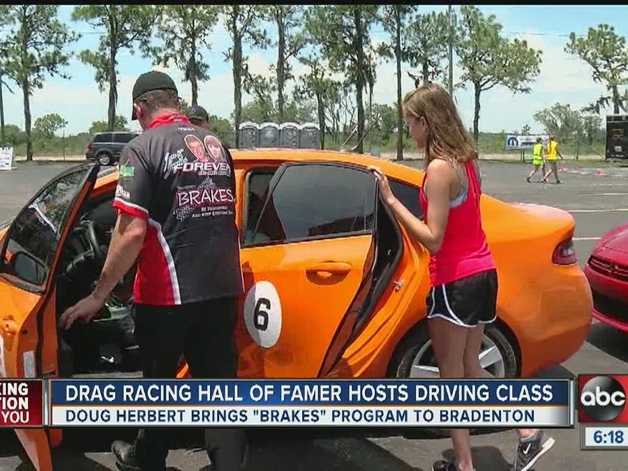 Drag racing Hall of Famer hosts driving classes