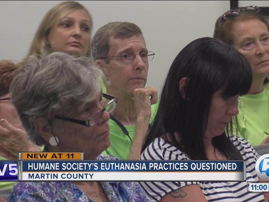 Humane society's euthanasia practices questioned in Martin County