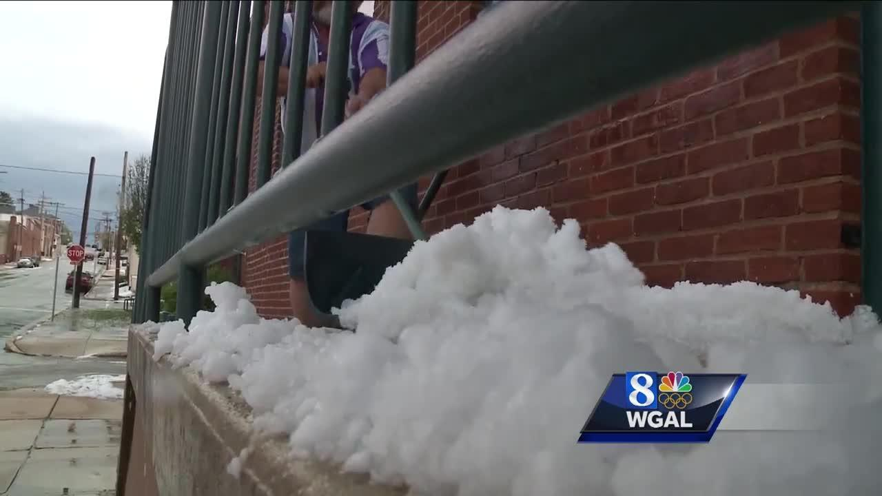 Rare May hailstorm sweeps through Susquehanna Valley