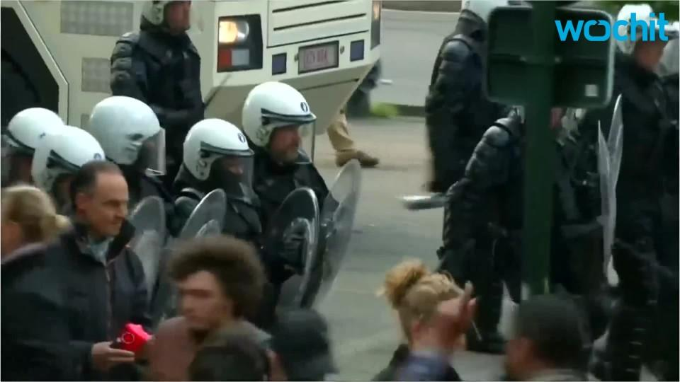 Clashes in Belgium amid anti-austerity protests