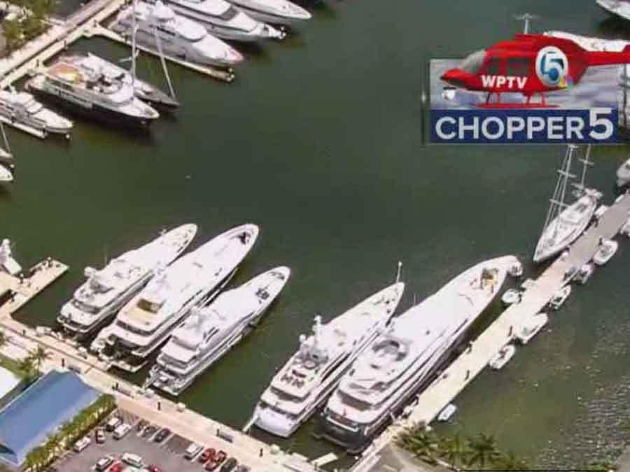 20-year-man shocked while working on 200-foot yacht