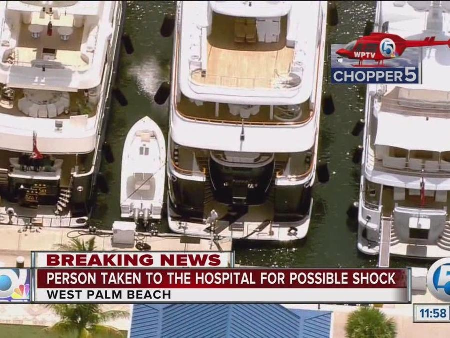 Man shocked while working on yacht in West Palm Beach