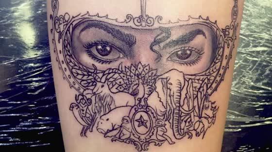 Paris Jackson Gets Michael Jackson's Eyes Tattooed on Her