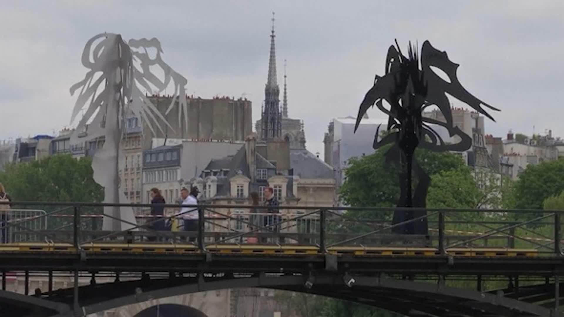 Paris Bridge Transformed Into Art Installation