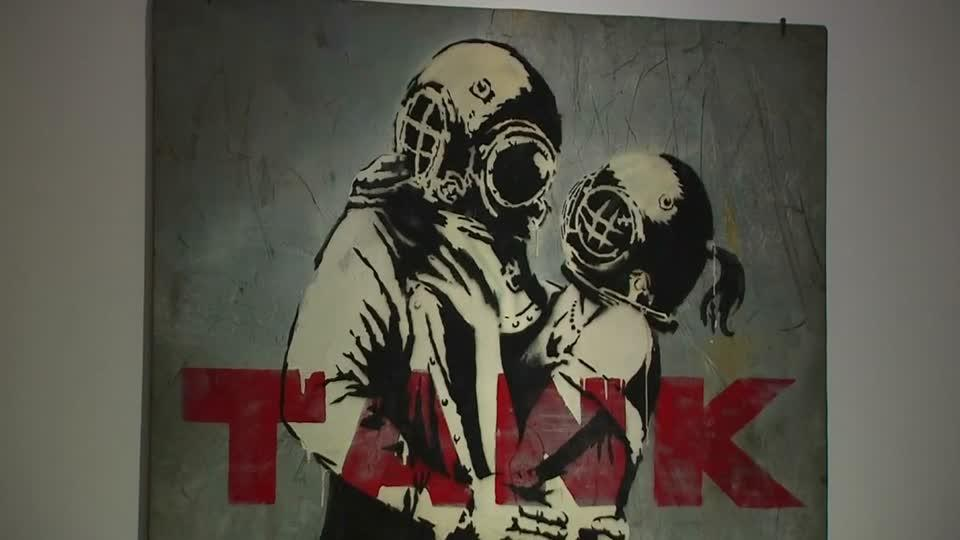 Banksy art exhibit opens in Rome