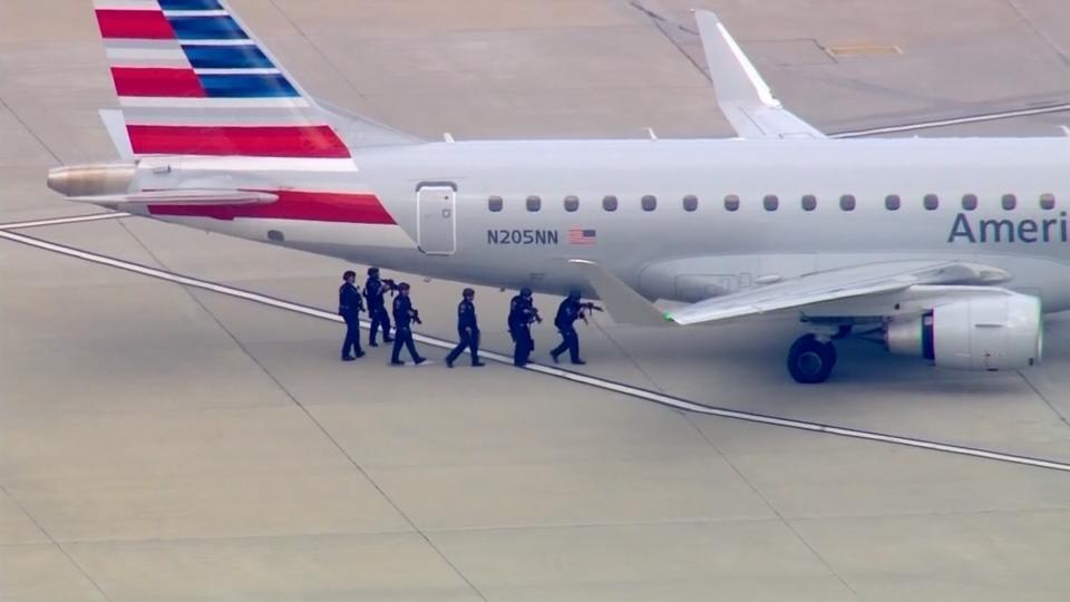 Drama at LAX amid American Eagle security threat