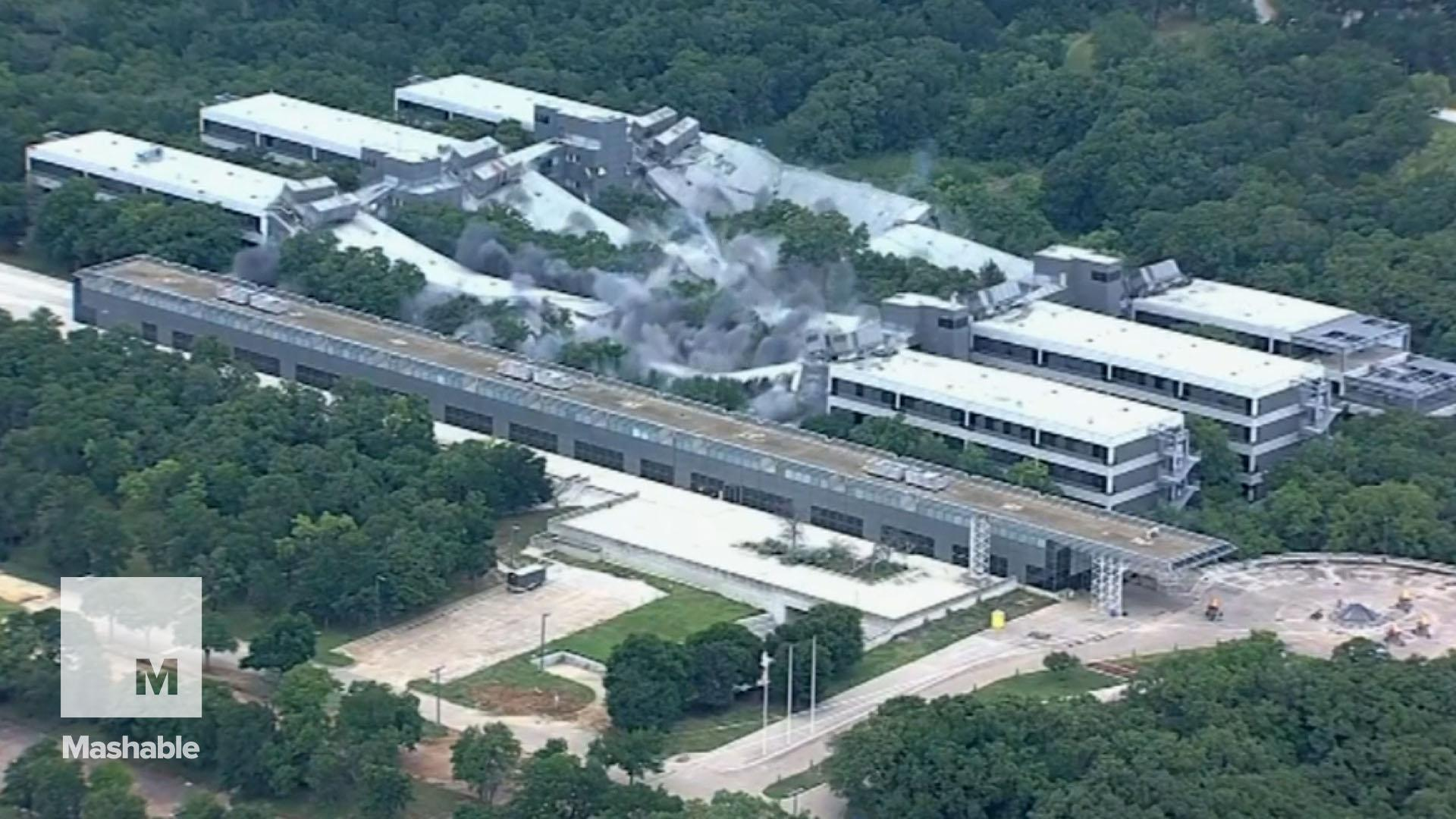 Implosion takes down American Airlines' headquarters in mesmerizing footage
