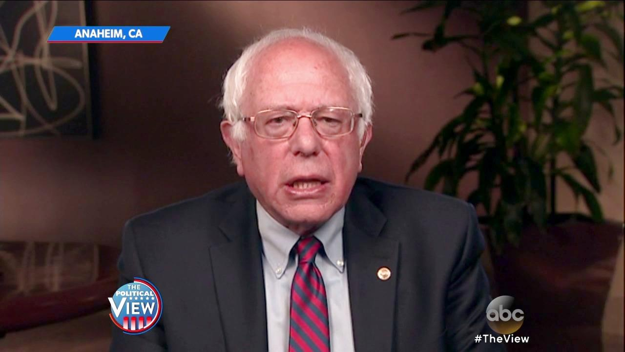 Bernie Sanders Talks Votes and Invigorating Democracy on 'The View'