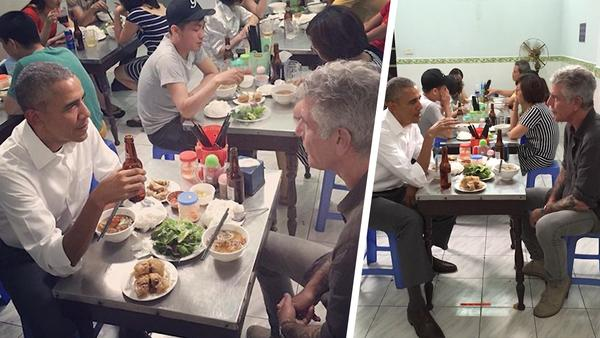 President Obama Has Dinner With Anthony Bourdain In Vietnam!