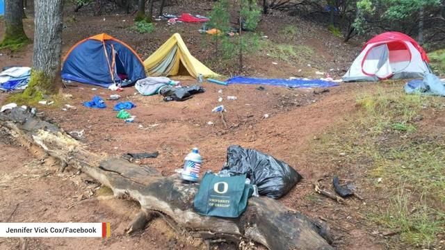 University Of Oregon Investigates Students' Possible Involvement In Campsite Trashing