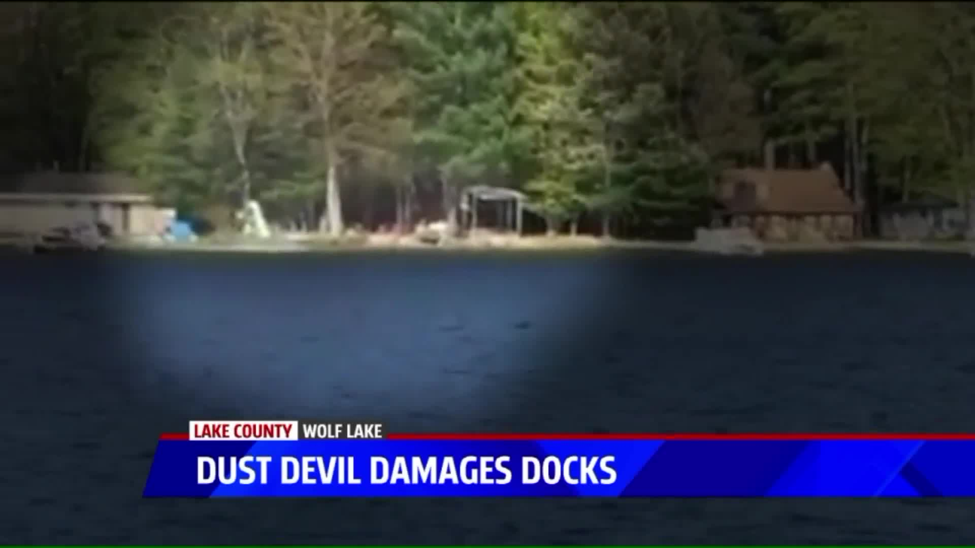 Mysterious Mini Twister Wrecks Docks On Michigan Lake