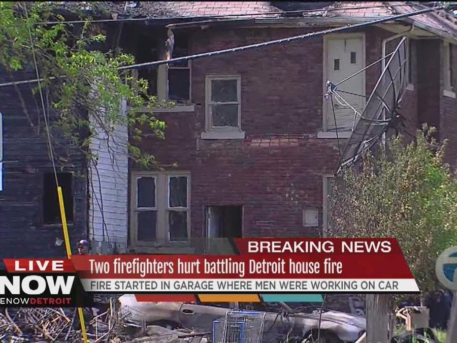 Two firefighters injured in fire