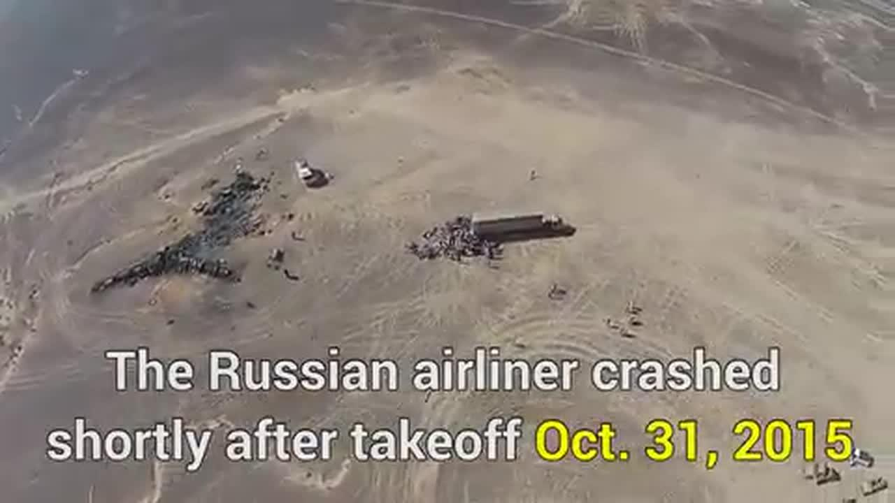 Drone Footage Shows Aerial View Of Metrojet Crash Site In Sinai