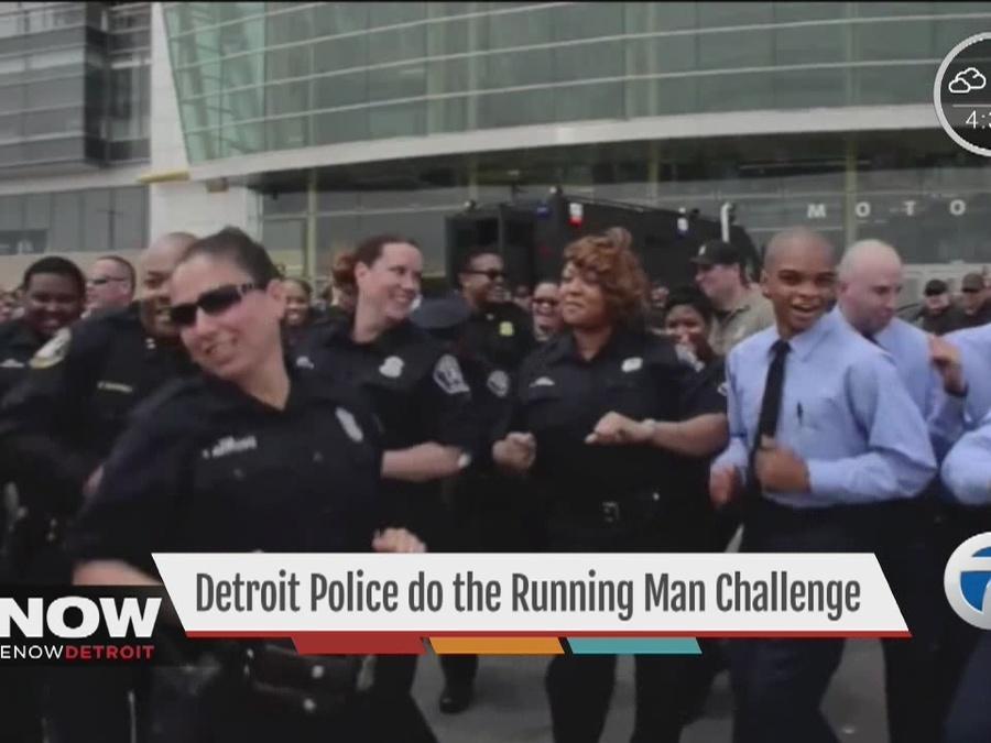 Detroit Police do the running man challenge