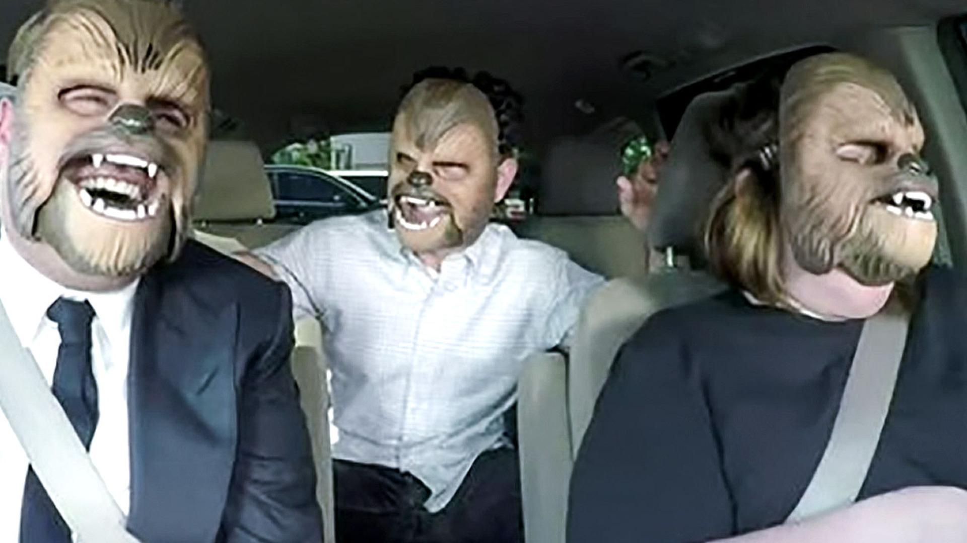 JJ Abrams Surprises Chewbacca Mom with James Corden