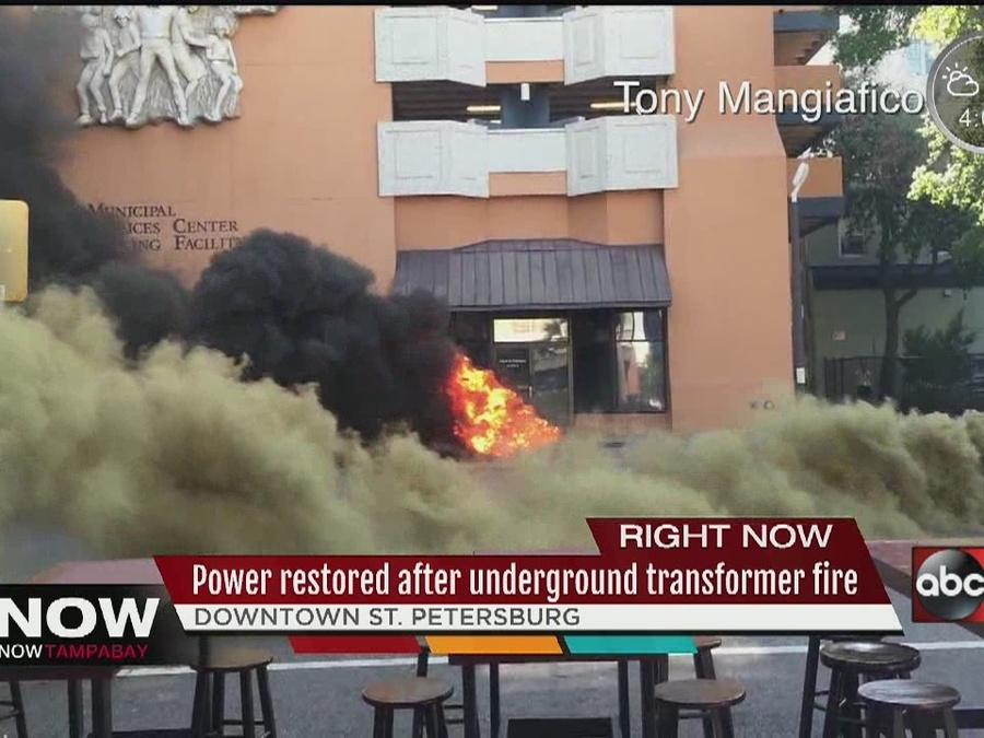Power stored in downtown St. Petersburg