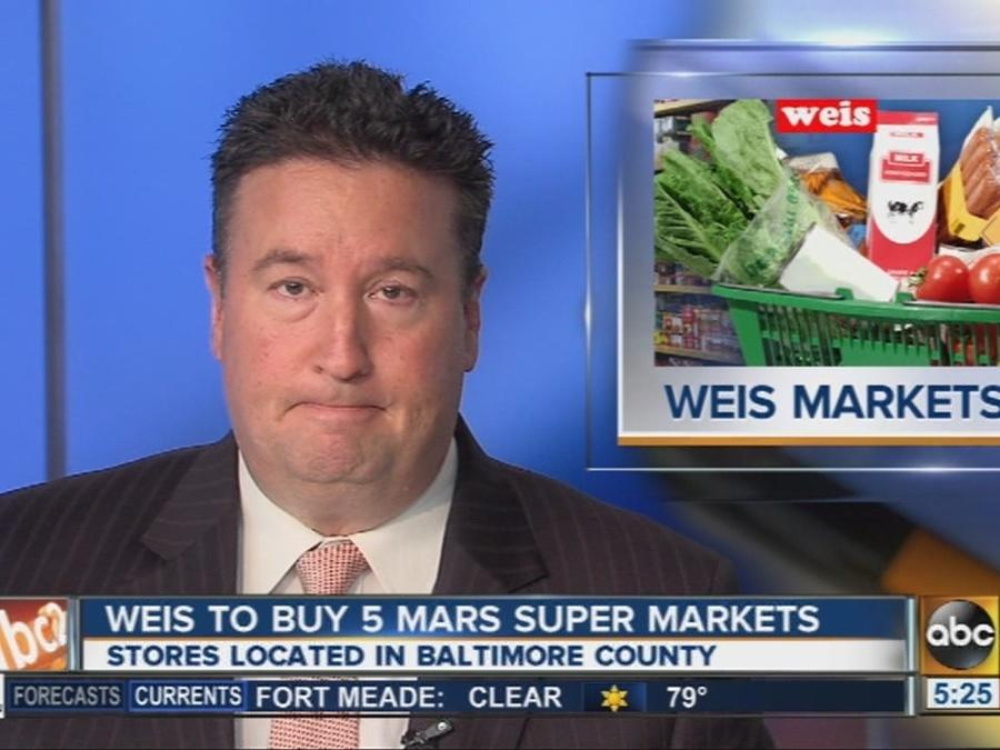 Weis Markets to buy 5 Mars Super Market stores in Baltimore County