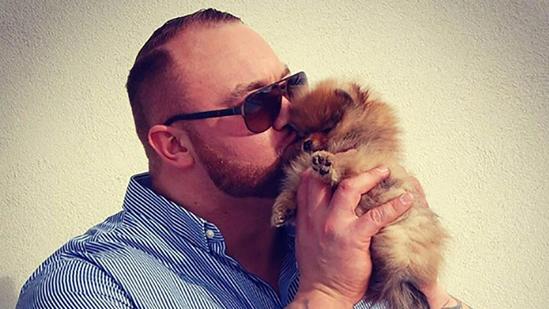 The Mountain From 'Game of Thrones' Has A Tiny Puppy