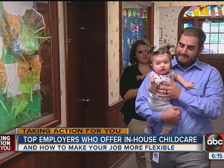 Local companies providing child care options for employees