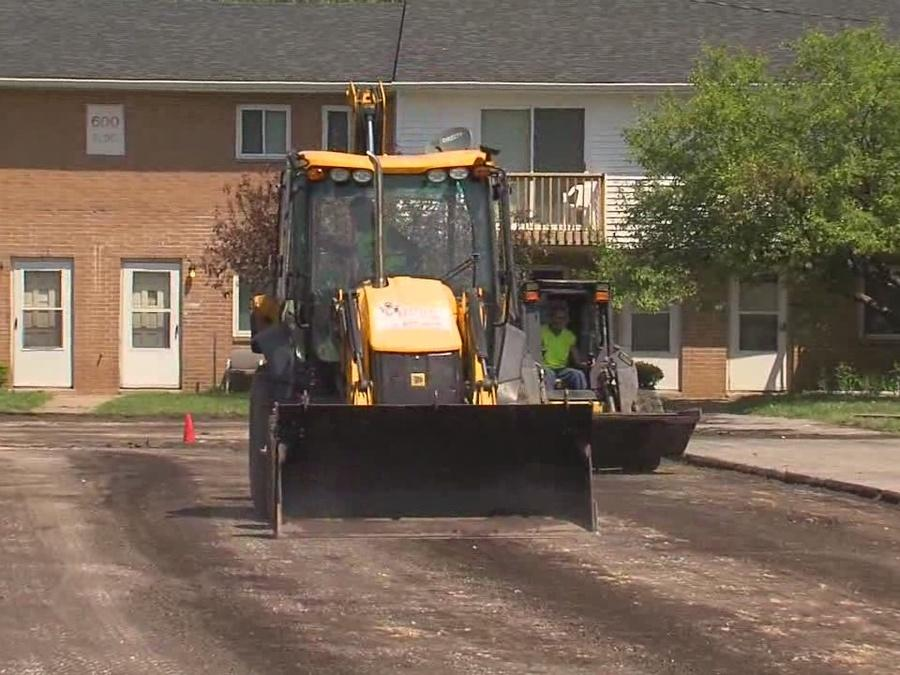 Pothole plagued road where boy with brittle bone disease is getting repaved