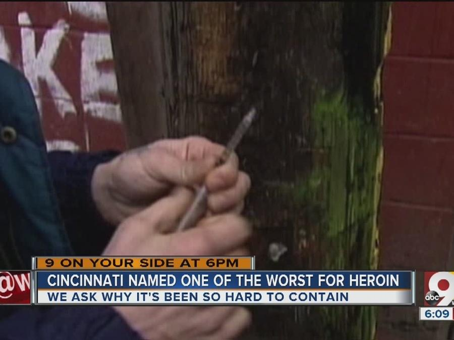 Cincinnati named one of the worst cities for heroin