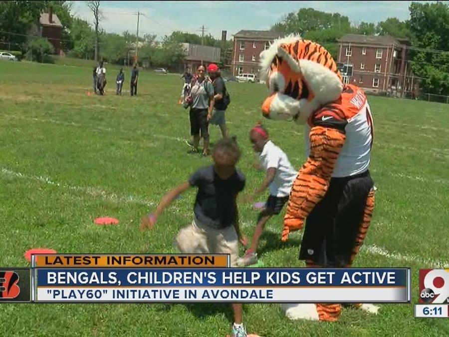 Bengals, Children's Hospital help kids get active
