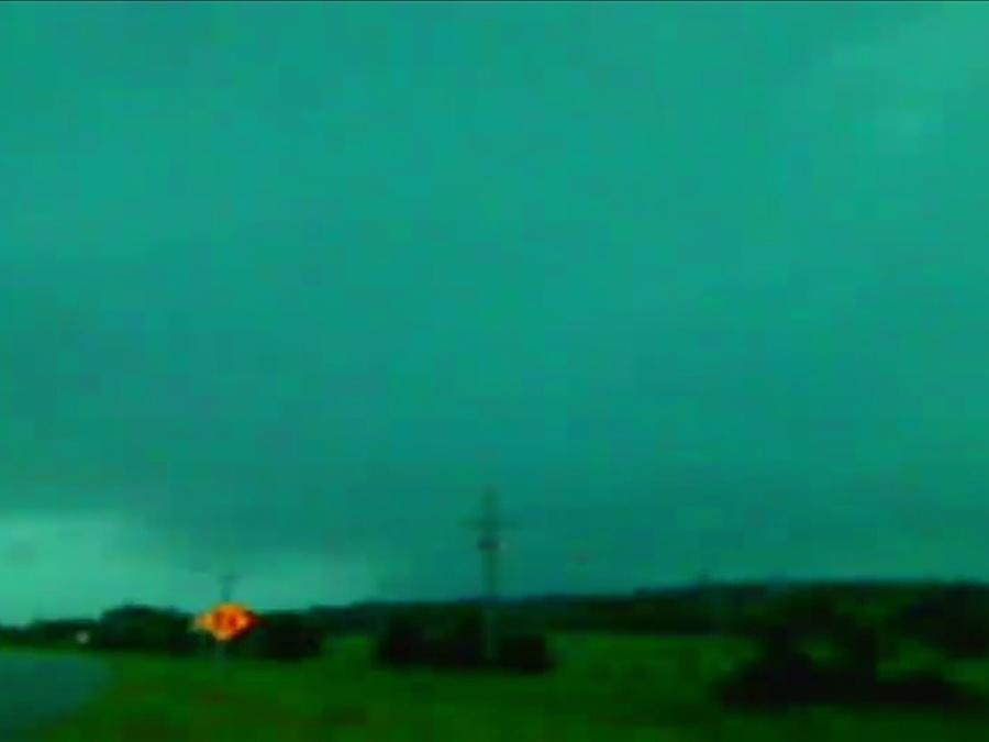 Storm chasing during Tornado Warning in Creek County, Oklahoma Tuesday