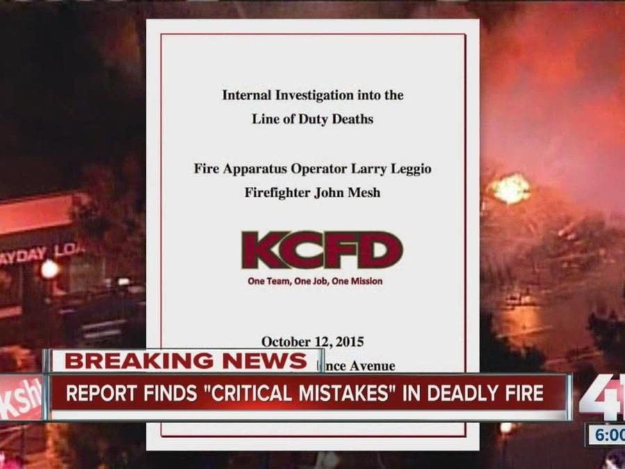 Report finds 'critical mistakes' in deadly 2015 fire