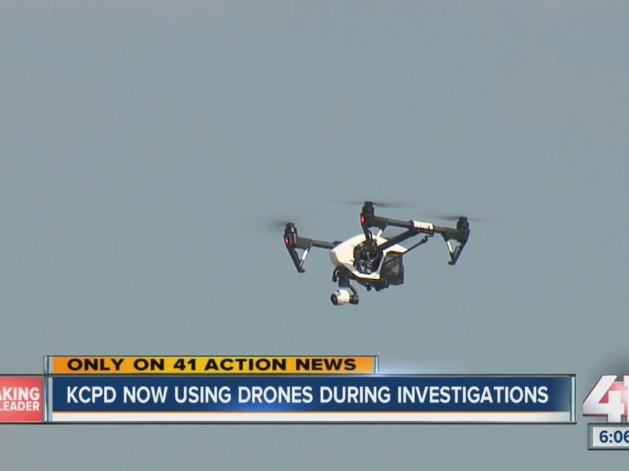 KCPD using drones during investigations