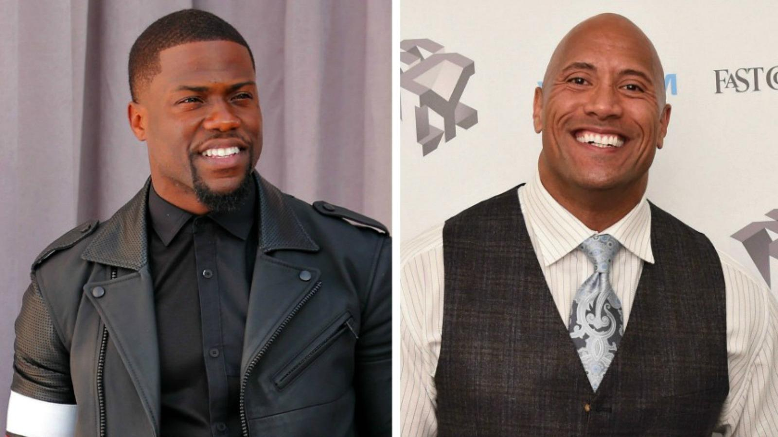 Kevin Hart & Dwayne 'The Rock' Johnson Laugh About Their High School Days
