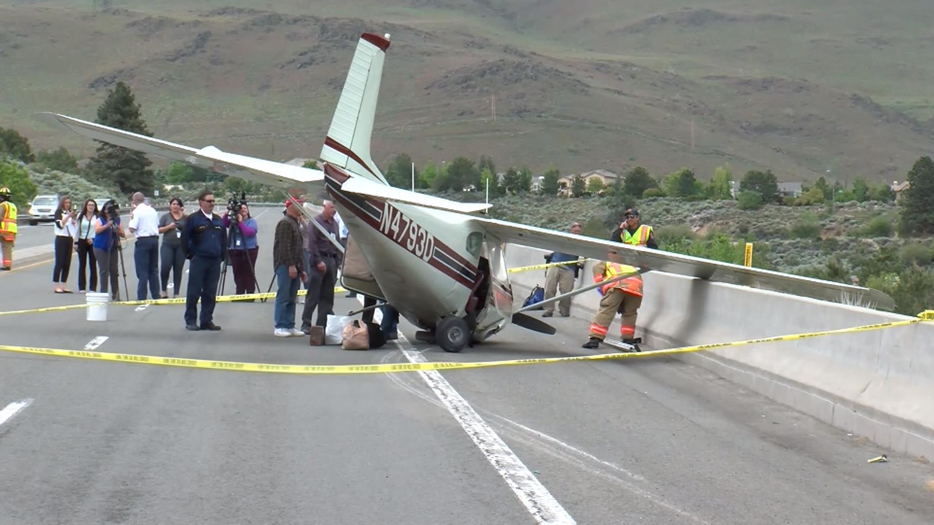Small Plane Makes Emergency Landing on Nevada Road