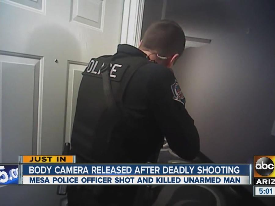 Body camera video released in shooting, death of man
