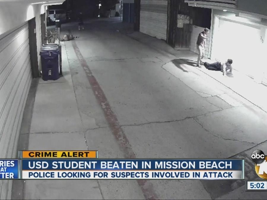 USD student beaten in Mission Beach