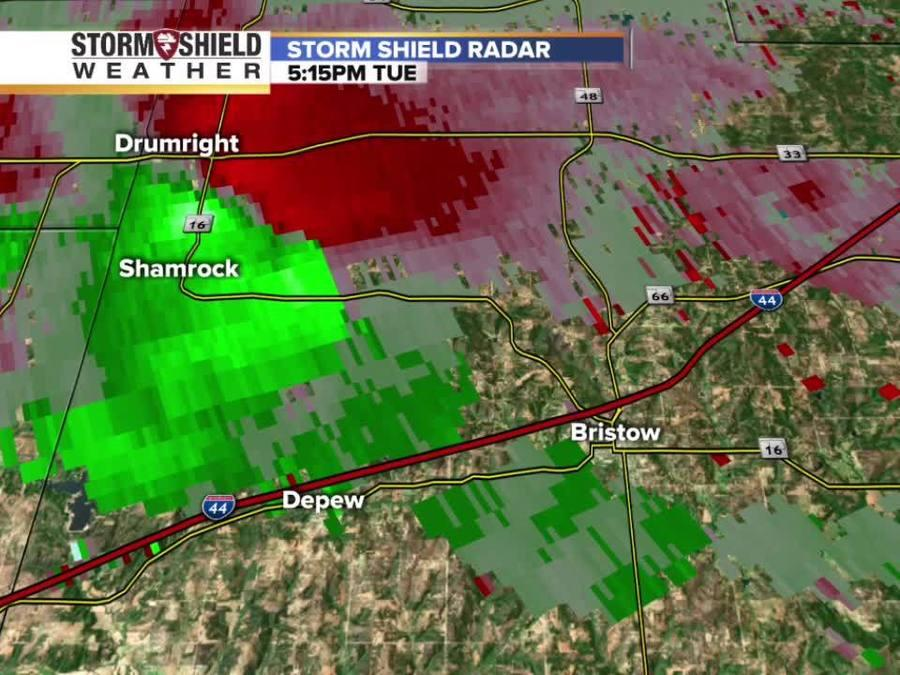 Possible tornado hits Bristow Tuesday: Radar images track the intensity and velocity of the winds
