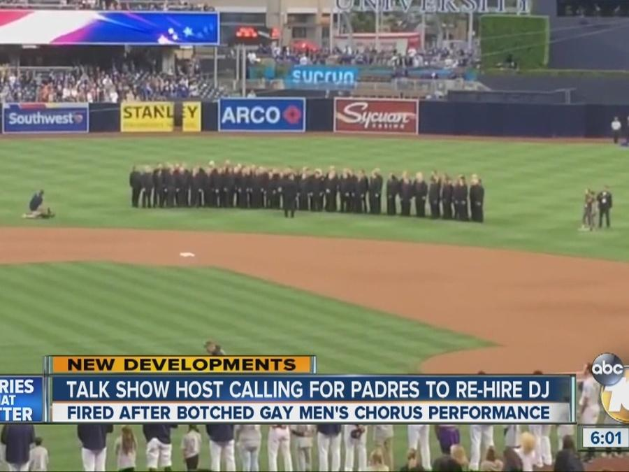 Talk show host calling for Padres to re-hire DJ