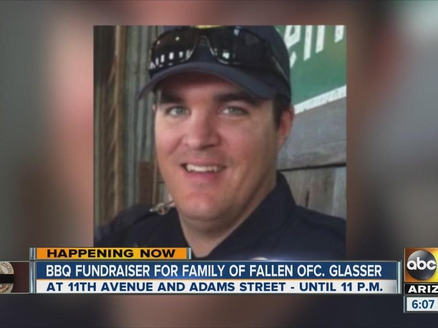 BBQ fundraiser held for family of fallen Ofc. Glasser