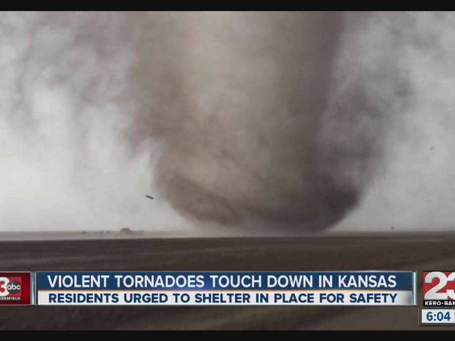 Dangerous tornadoes touch down in Kansas