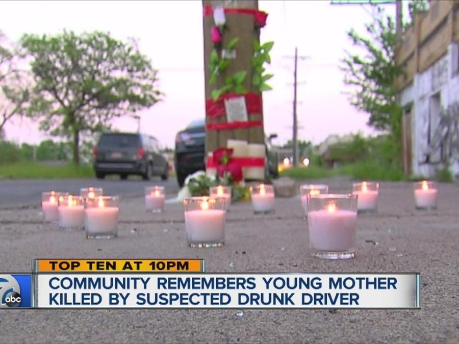 Young mother remembered at a vigil