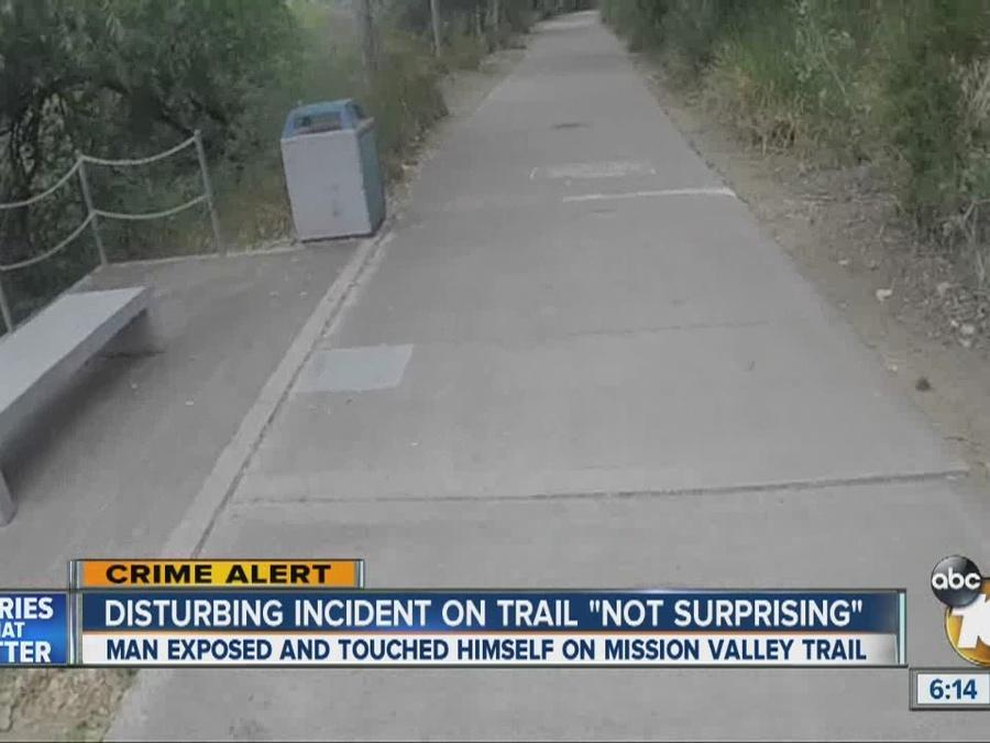 Runners, walkers say disturbing incident on trail 'not surprising'
