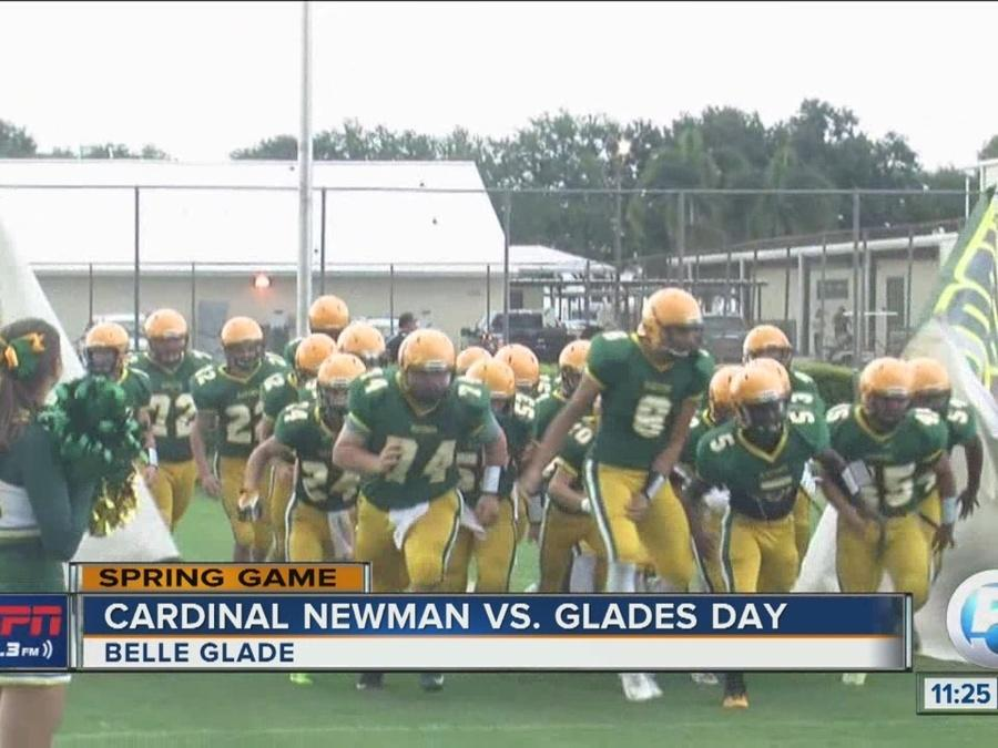 Cardinal Newman wins big in spring game