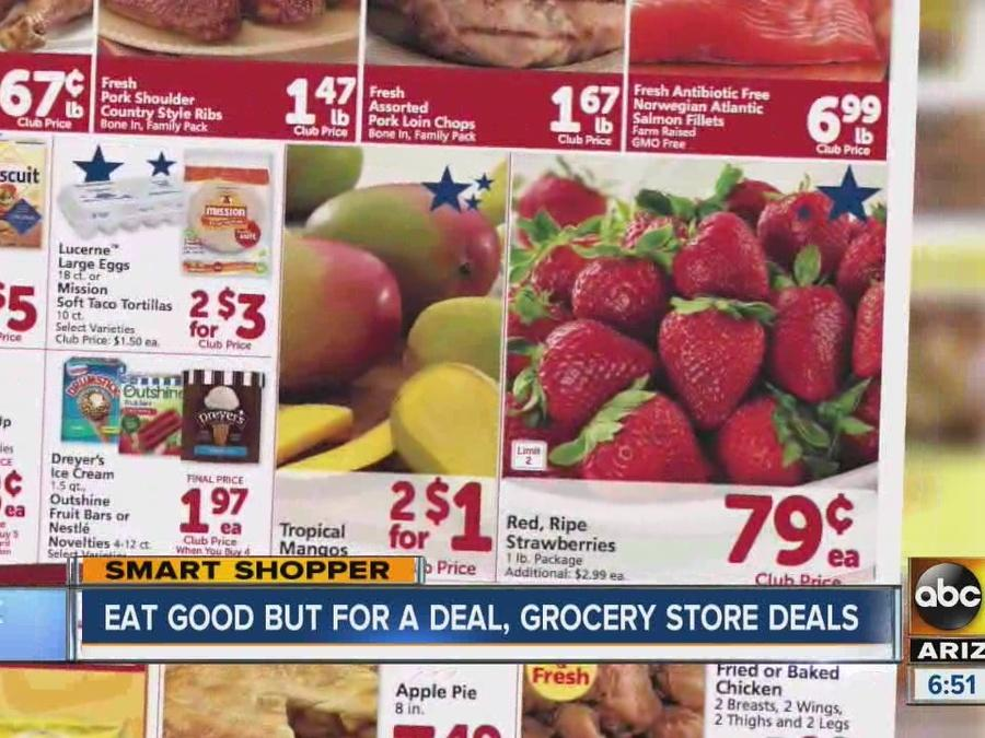 Find out what's on sale at food stores