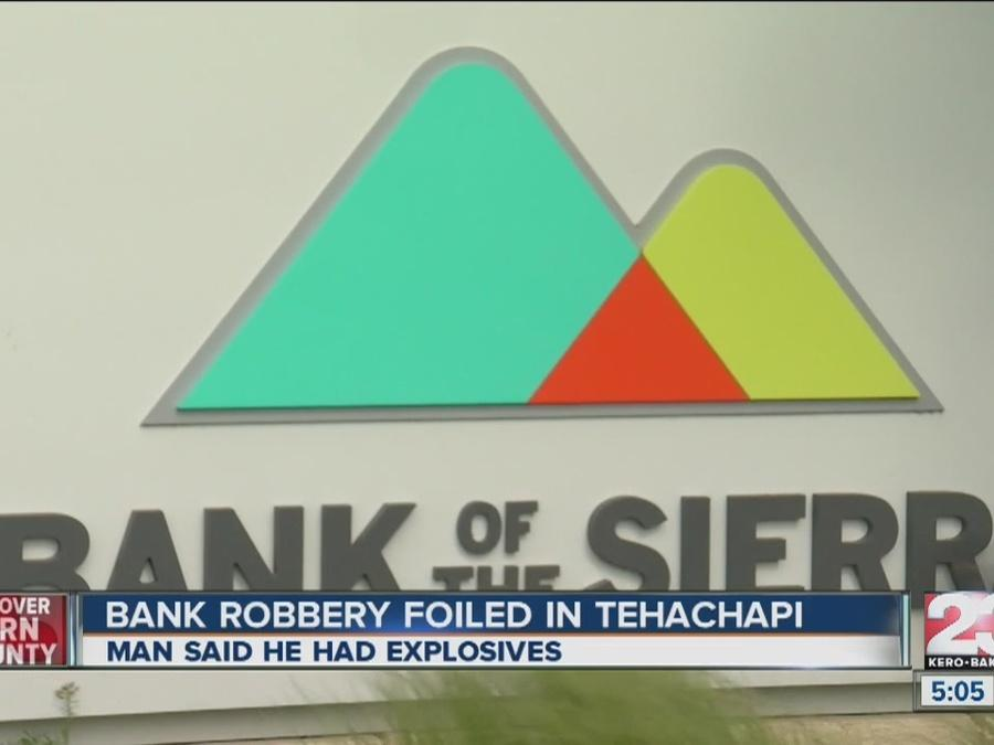 Customers, employee stops bank robber in Tehachapi