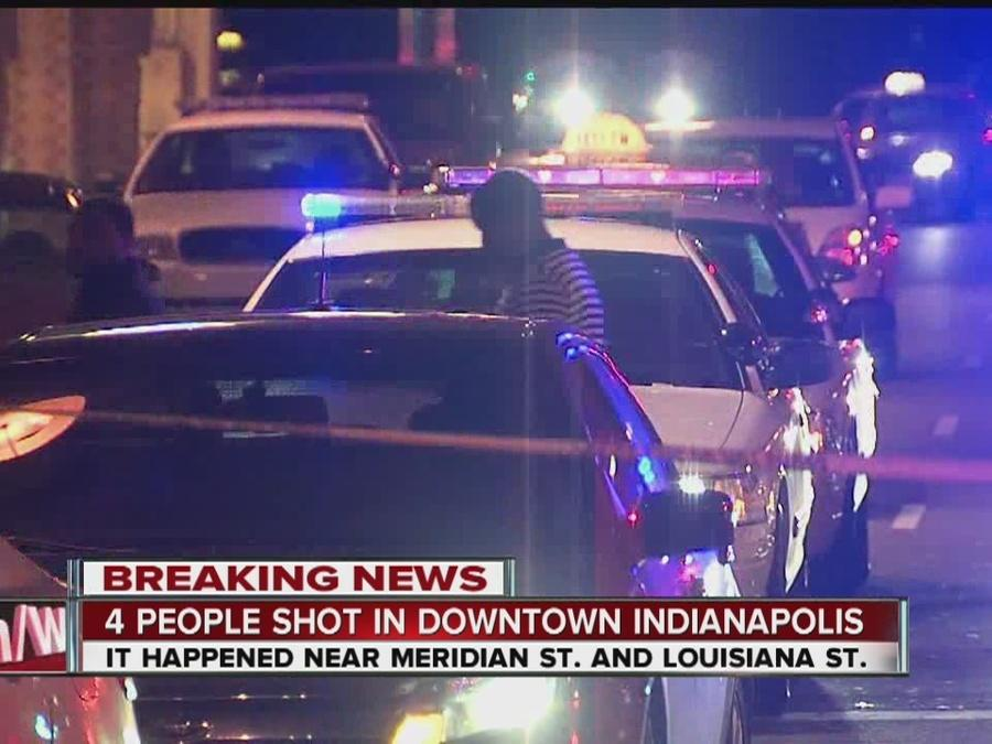 Several people detained after 4 men injured in shooting outside of nightclub in downtown Indy