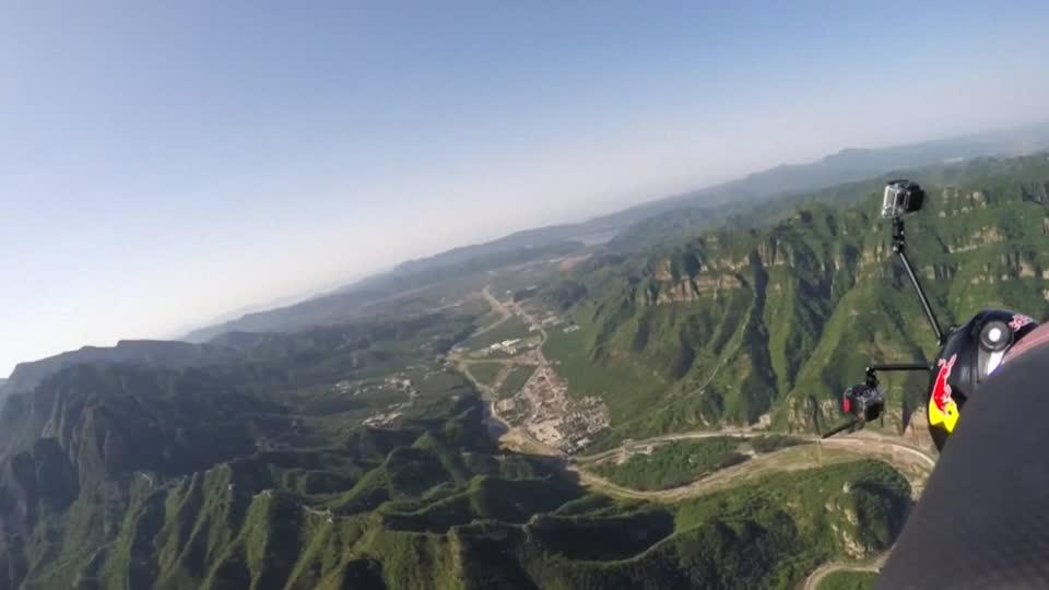 'Human Arrow' achieves goal at Great Wall