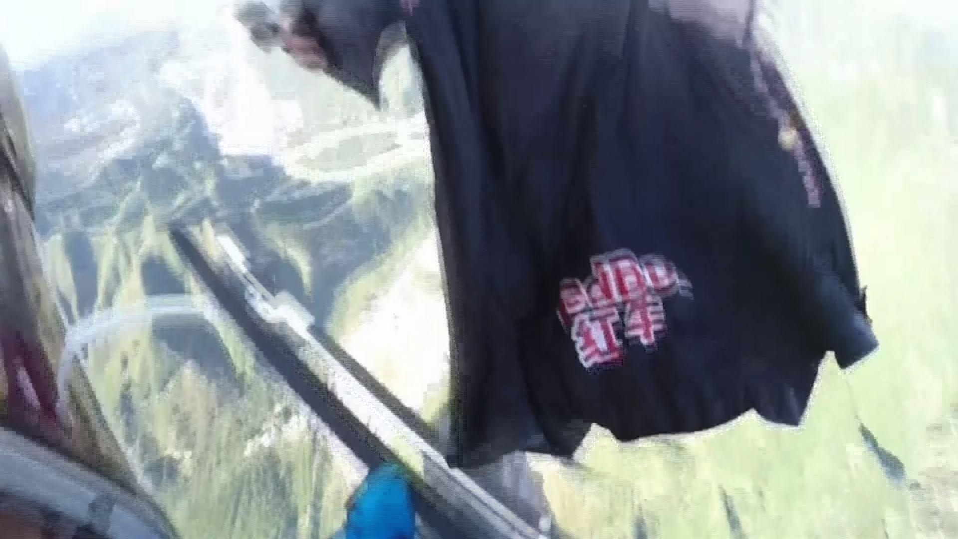 Raw: Base-Jumper Performs Stunt at Great Wall